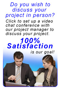 set up a video chat conference to discuss your needs